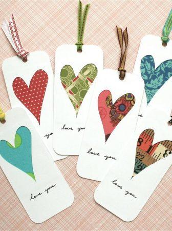Un segnalibro romantico per San Valentino