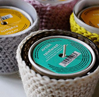 Crochet Candle Jars