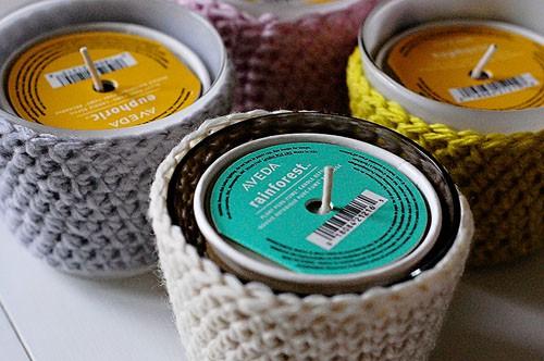 Crochet Candle Jars