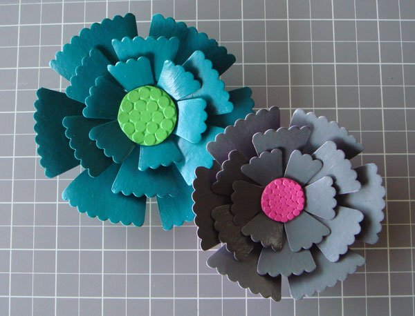 Papier Mache Floral Brooch