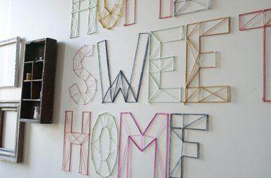 Nail and Yarn Wall Art