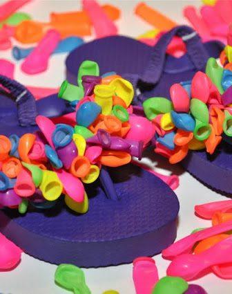 Balloons Flip Flops
