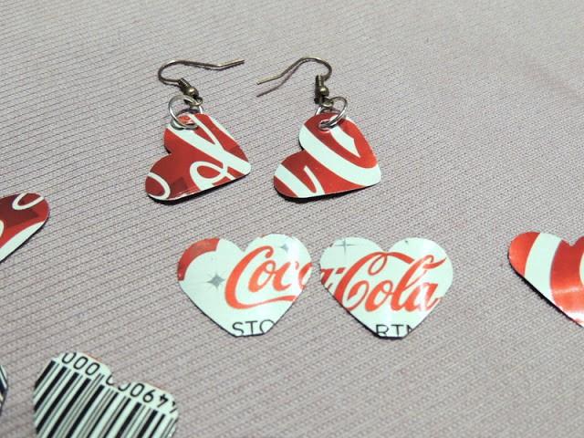 Orecchini Coca Cola cuore