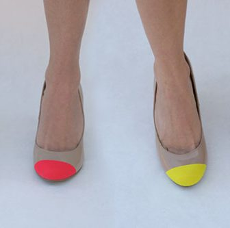 Neon Toe Shoes
