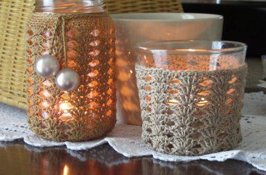 Crochet Candle Holders