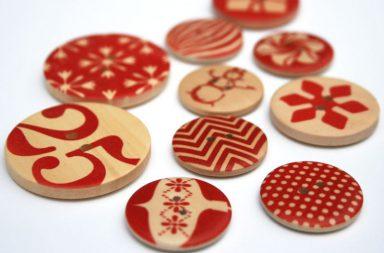 Wooden Button Bracelets
