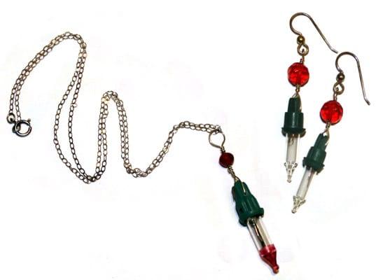 christmas lights diy jewelry