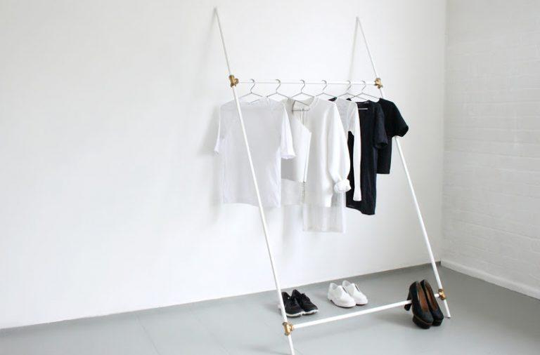 diy leaning rack