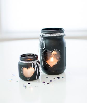 Chalkboard Jar Candle