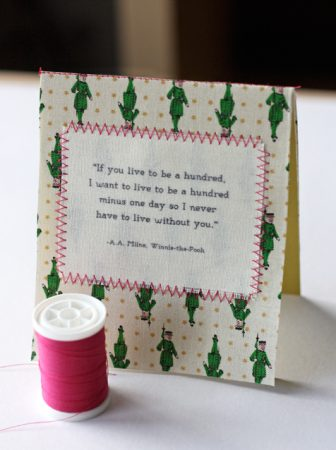 Fabric Notecard