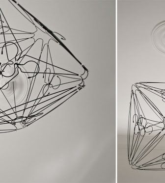 Wire Hanger Lamp