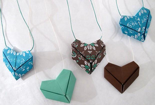 Ciondoli cuore origami