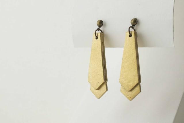Orecchini Shrink Paper