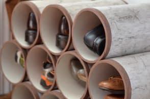 PVC Pipe Shoe Organizer