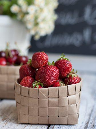 Paper Fruits Basket