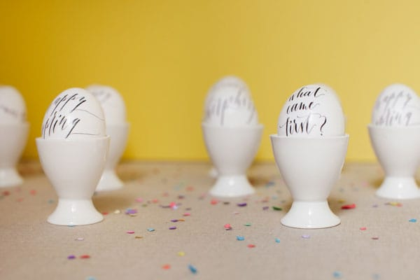 Calligraphed Eggs