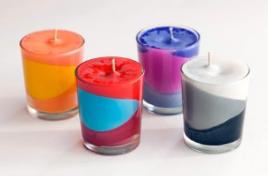 DIY Colorful Block Candles