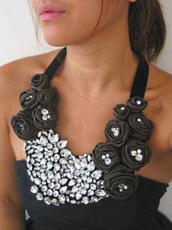 Collana Rose e Strass