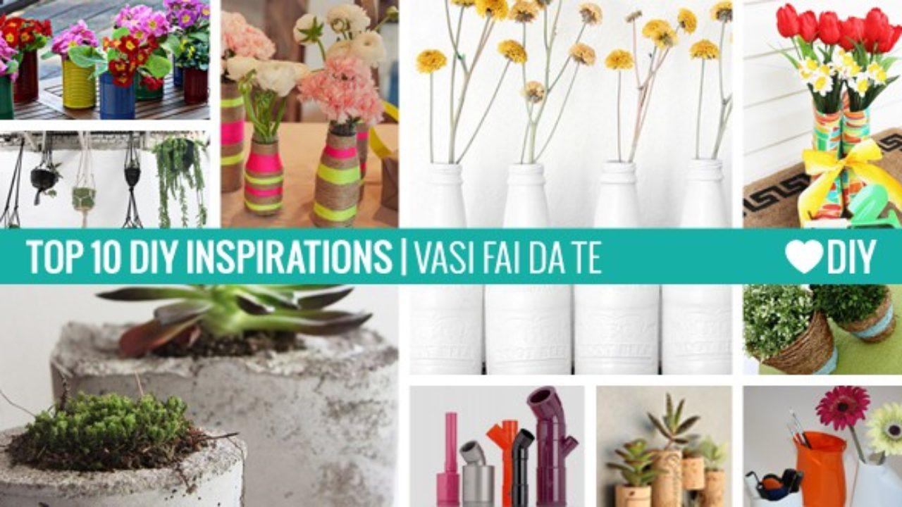 Fioriere Originali Fai Da Te 10 ispirazioni - vasi fai da te - passion diy