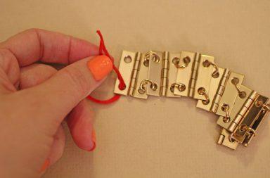 Vintage Gold Hinge Bracelet