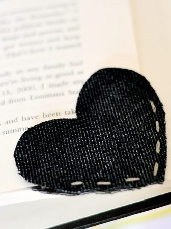 Denim Heart Bookmark