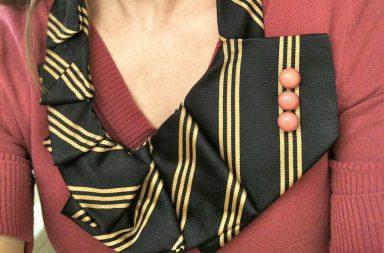 Ruffled Tie Necklace