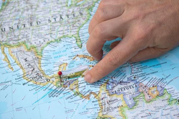 Cartina Mondo Per Viaggi.Travel Memory Map Passion Diy