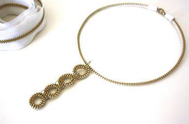 Tutorial Collana Zip Oro