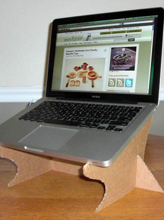 Supporto Computer Portatile di Cartone Riciclato