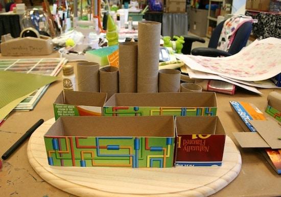 set-ufficio-riciclo-cartone