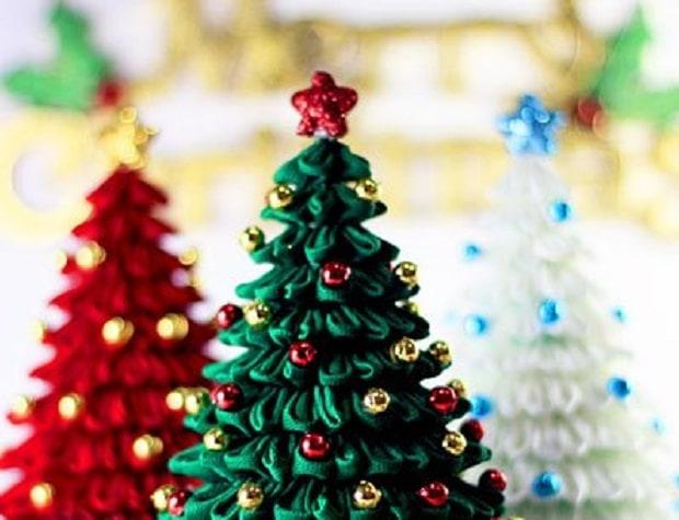 Albero Di Natale Kanzashi.Albero Di Natale Tsumami Passion Diy