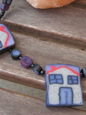 Collana con Casette di Fimo