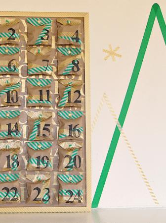 Calendario dell'Avvento Washi Tape