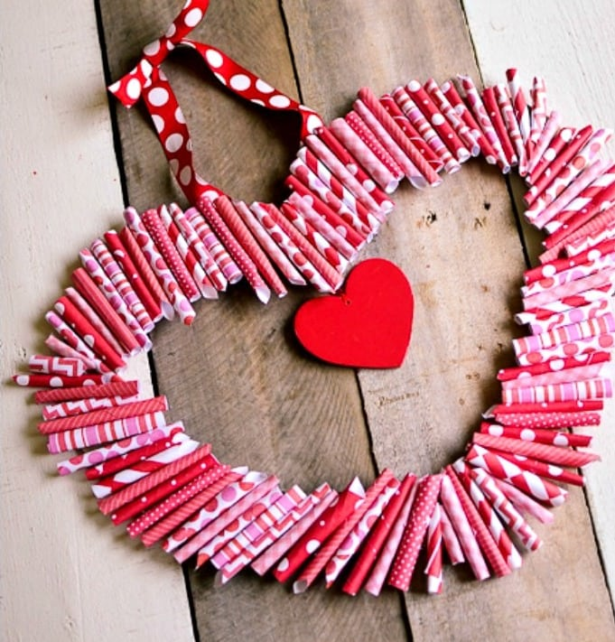 Ghirlanda a forma di cuore passion diy for Ghirlande di carta