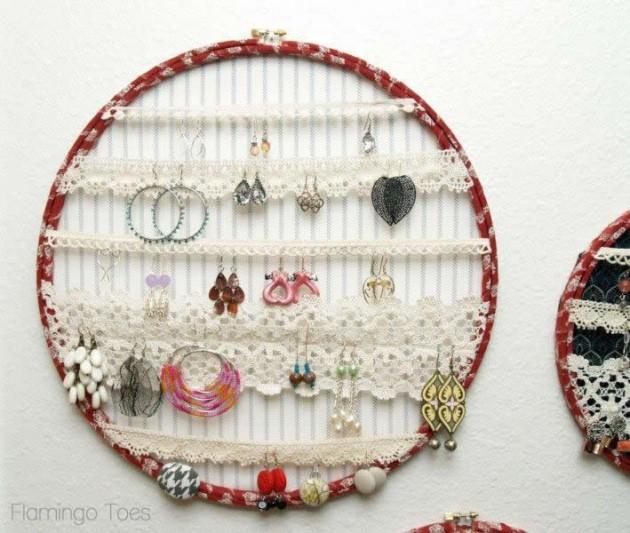 Telai da ricamo per sistemare gioielli passion diy - Portagioie fai da te ...
