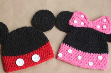 Cappelli uncinetto Topolino e Minnie
