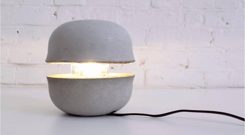 Lampada di cemento Fai da te - Passion DIY