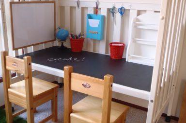 Tavolo lavagna per bambini