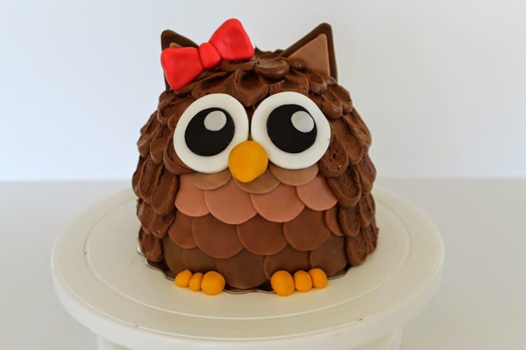 D Owl Cake Tutorial