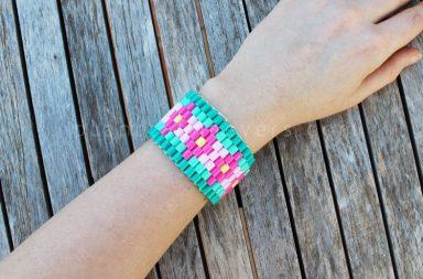 Bracciale colorato hama beads