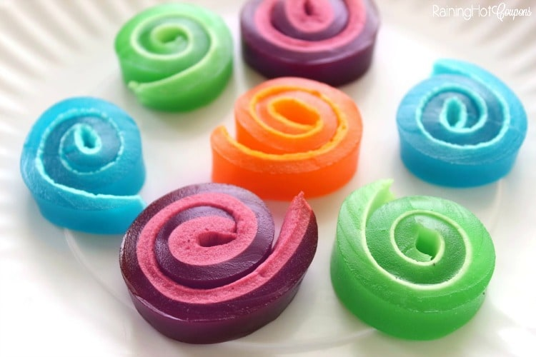 Girelle di gelatina e marshmallow
