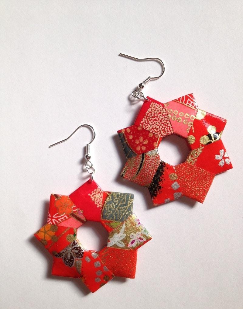 Eccezionale Orecchini di carta origami - Passion DIY SO79