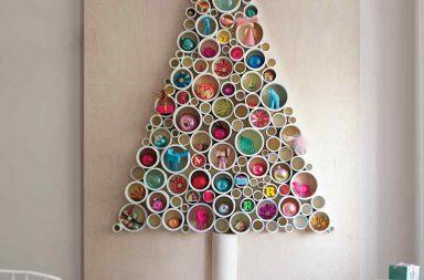 Albero di Natale con tubi in PVC