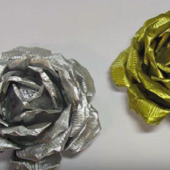Rose di alluminio: un'idea riciclosa per la festa della mamma