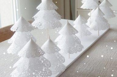Centrini di carta in versione natalizia